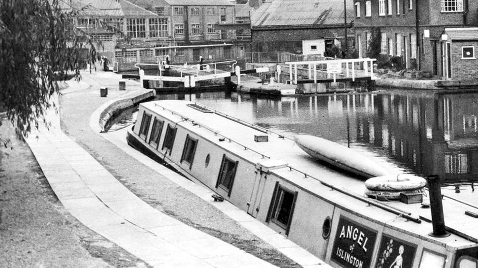 Angel Canal Boat Historical Photo