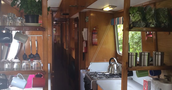 The canal boat galley