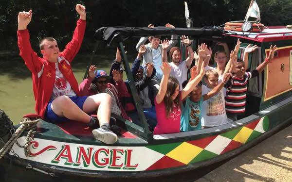 Children enjoying a trip on the Angel Canal Boat London